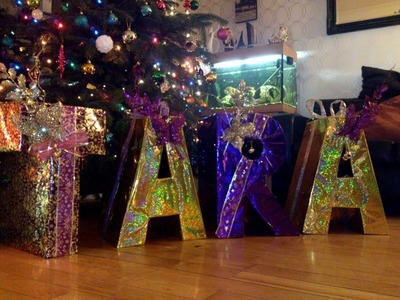 DIY How To Make Personalised Christmas Presents Using Letters