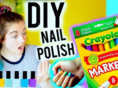 DIY: Make Nail Polish out of Markers!!