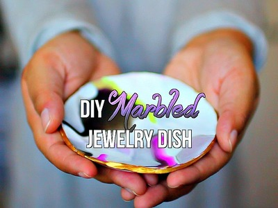 DIY: Marbled Jewelry Dish | crystalcreateschic