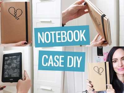DIY Notebook Cover for iPad. Kindle | CharliMarieTV