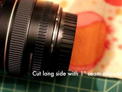 DIY protective camera lens cozy