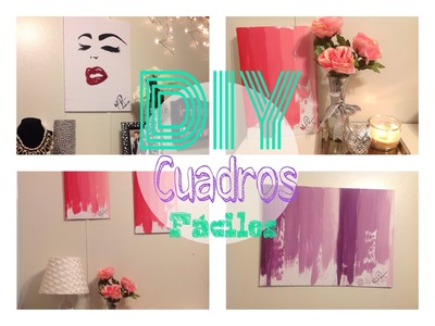 DIY Room Inspiration Decor - Wall Art.fácil y barato!