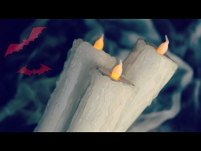 DIY Spooky Faux Candles | 12 Days of Halloween 2014