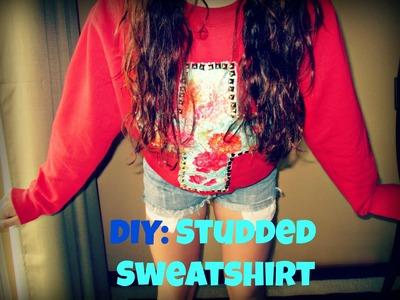 ❤DIY❤ Studded Cross Sweatshirt + Studded Ombre Sweatshirt