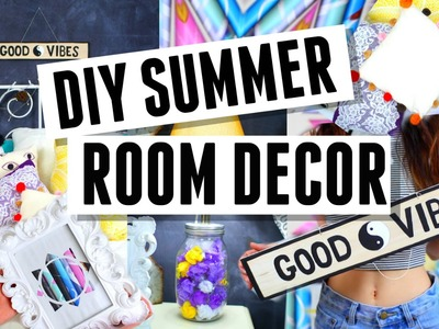 DIY Summer Room Decorations ! Fast + Easy !