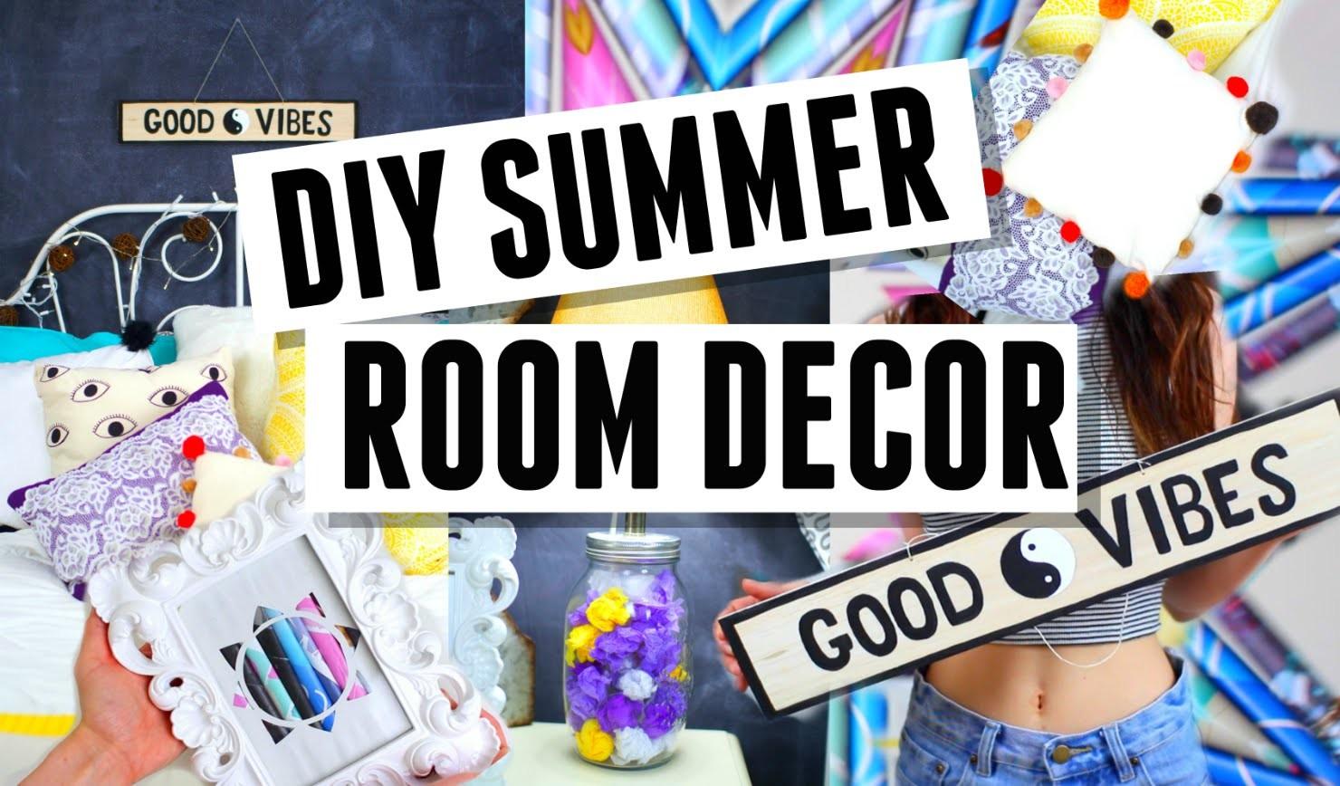 DIY Summer Room Decorations ! Fast + Easy !