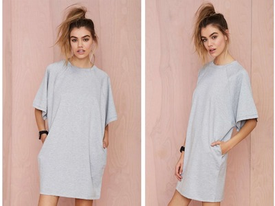 DIY T-Shirt Dress ( Easy Sewing)