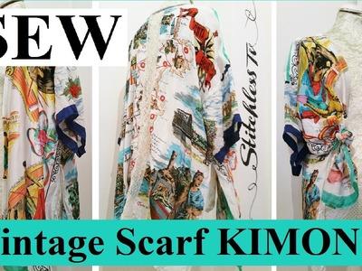 DIY Vintage Scarf Kimono