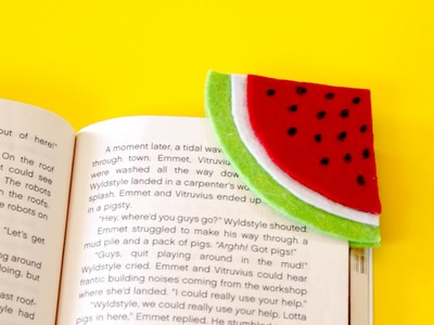 DIY Watermelon Bookmark | Crafts for Kids