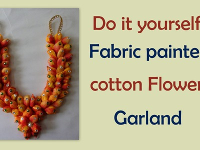 Do it yourself cotton flowers garland