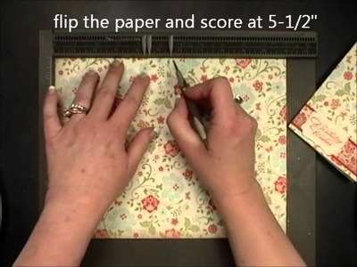 Double Pocket Card - Stampin Up Simply Scored