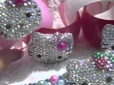 Gorgeous Hottest Crystalized Bling Hello Kitty bracelets and hair deco accessories