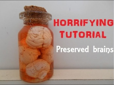 HALLOWEEN: Bottle charm: Preserved brains