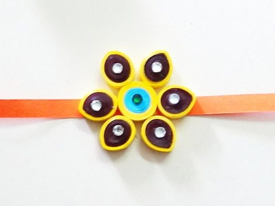 Hand made paper quilling rakhi