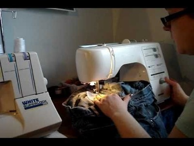 How I Do Things:  Repairing Demin Jeans