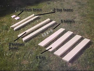 How To Build Folding Sawhorse. Trestle. Work Bench