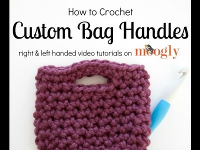 How to Crochet: Bag Handles (Right Handed)