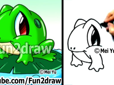 How to Draw a Frog - Learn to Draw - Easy Things to Draw - Fun2draw