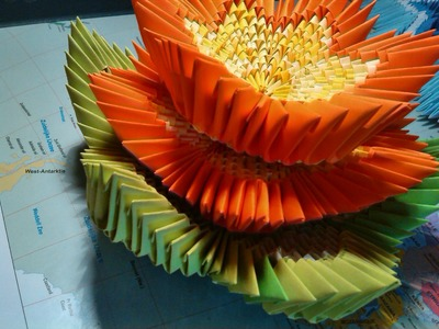 How to make a 3d origami lotus flower