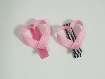 How To Make a Boutique Heart Hair Clip.Bow