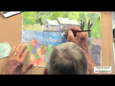 How to Paint on Collage Paper with Gerald Brommer