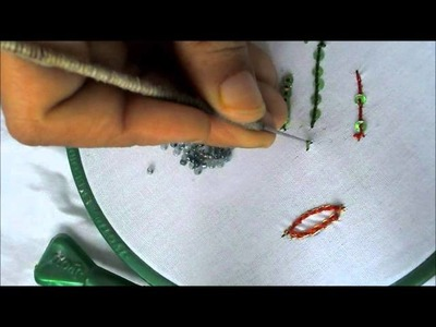 How to Stitch Beeds with Aari or Maggam Needle