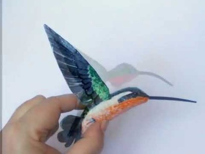 Hummingbird paper mache bird sculpture  handicraft Arts