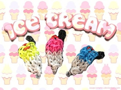 Ice-Cream Charm Rainbow Loom Tutorial