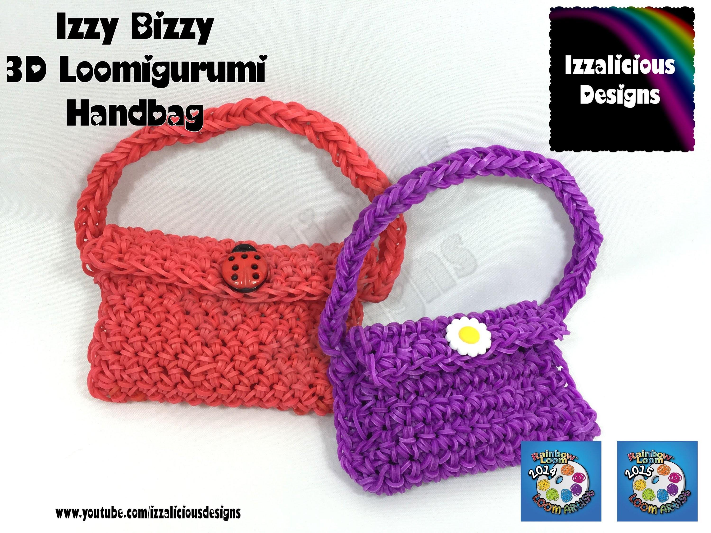 Loomigurumi - Izzy Bizzy Handbag - amigurumi using Rainbow Loom Bands