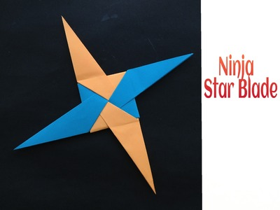 "Modular Origami Paper ""Ninja Star Blade(3) - 4 pointed"" - Simple and Easy"
