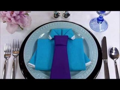 Napkin Folding - Shirt and Tie