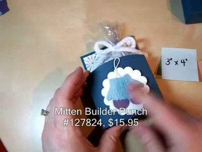 Open Top Treat Box Tutorial with Stampin' Up! Mitten Builder Punch