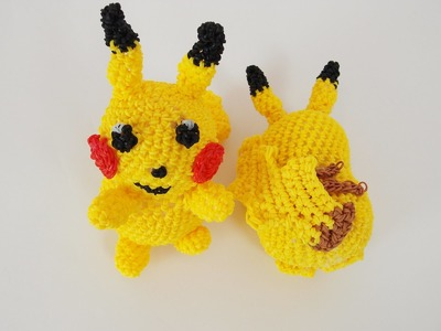 Pikachu Pokemon Rainbow Loom Bands Amigurumi Loomigurumi Hook Only Tutorial
