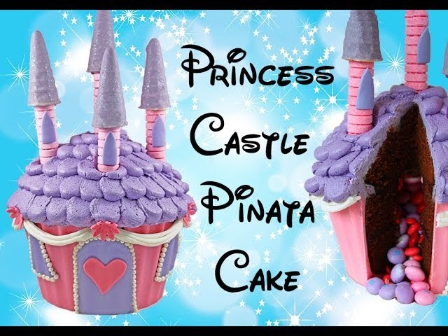 PRINCESS CASTLE CAKE - Make a Giant Cupcake Princess Castle with Cupcake Addiction