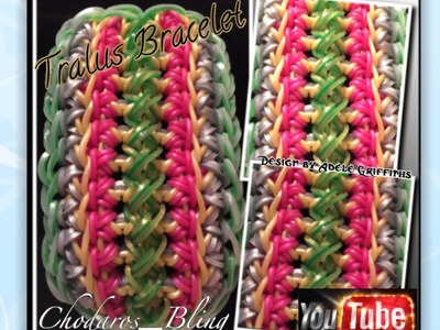 Rainbow Loom Band Tralus Bracelet Tutorial.How To
