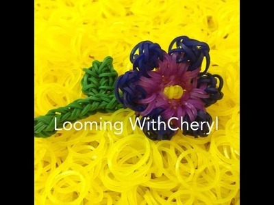 Rainbow Loom FLOWER for MOM - Gomitas - Looming WithCheryl