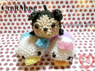 Rainbow Loom Mickey Inspired by Tsum Tsum Loomigurumi.Amigurumi