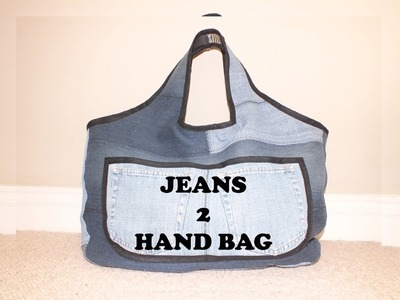 Recycle Reuse Jeans Bag (Sahara -Intro)Denim Hand Bag DIY Bag Vol 3A