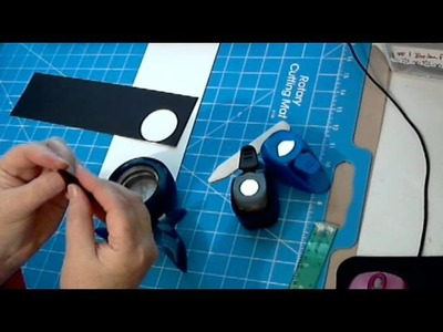 Scrapbookgiggles How to Make the Round Tabs WITHOUT the StampinUP Tab Punch