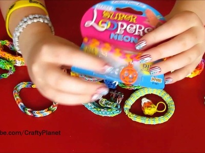 SOCCER BALL Charm -  Rainbow Loom Rubber Band Haul - Rubber Band Bracelets, Rings, Charms, Designs