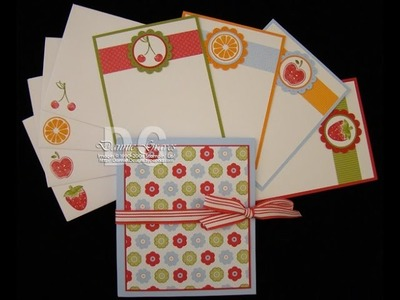 Stampin' Up! Note Card Holder Tutorial