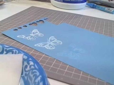 Stamping with Bleach for TwoPeasinaBucket.com