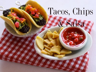 Tacos, Chips & Salsa - Clay Food Tutorial
