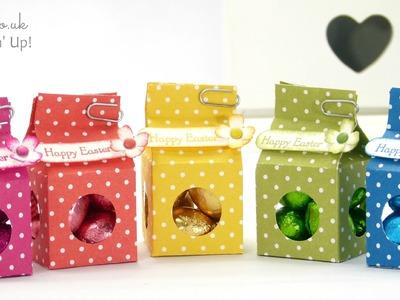 Tiny Milk Carton Easter Egg Boxes
