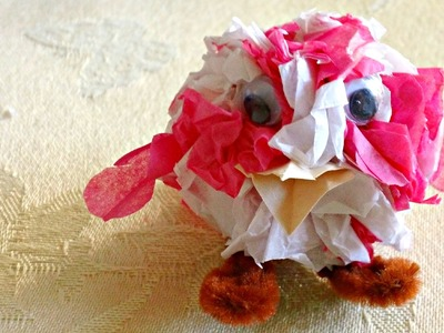 Tissue Paper Crafts: Fun Mini Bird! PART 1