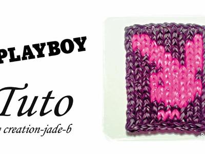 Tuto Rainbow Loom - Mural Playboy !