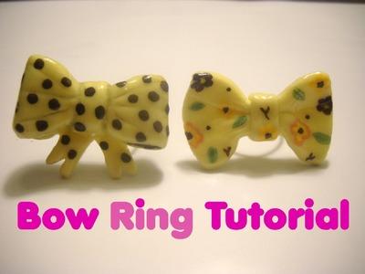 Tutorial Anillo Porcelana Fría - Bow Ring Tutorial COld Porcelain