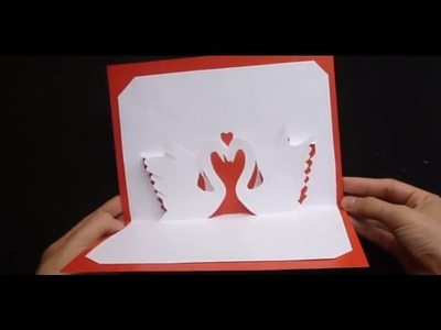 Valentine's Day Pop Up Card Tutorial : Swans in Love