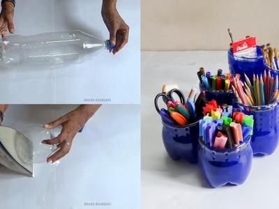 DIY - How to Make PenHolder With Cool Drink Bottles
