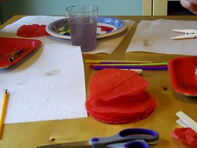 Get Crafty - Tissue Paper Clothespin Butterflies